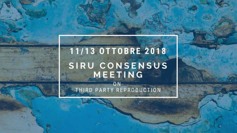 SIRU CONSENSUS MEETING ON THIRD PARTY REPRODUCTION